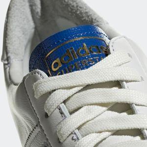 adidas Shoes | Superstar Blue Thread